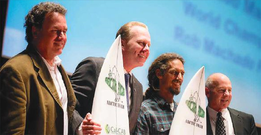 presenting biodegradable surfboards